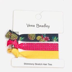 Vera Bradly Stretch Hair Ties Toucan Party, Navy